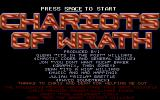 Chariots of Wrath Atari ST Title Screen