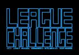 League Challenge Amstrad CPC Title screen