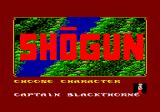 James Clavell's Shogun Amstrad CPC Choose your character.