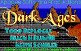 Dark Ages: Volume 1 - Prince of Destiny DOS Title Screen