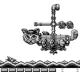 Parodius Game Boy Stage 1 boss