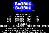 Bubble Bobble Apple II Title screen