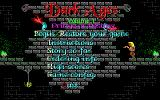 Dark Ages: Volume 1 - Prince of Destiny DOS Main Menu
