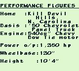Monster Truck Wars Game Boy My truck's stats.