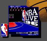 NBA Live 96 Game Boy Title screen (Super Game Boy)