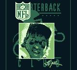 NFL Quarterback Club '95 Game Boy Showing some pictures of NFL quarterbacks.