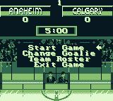 NHL 95 Game Boy Game menu