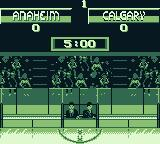 NHL 95 Game Boy The score after 1 period.