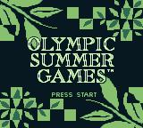 Olympic Summer Games Game Boy Title screen