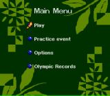 Olympic Summer Games SNES Main menu