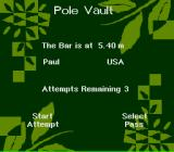 Olympic Summer Games SNES The bar is at 5.40m.