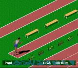 Olympic Summer Games SNES Ready to start the triple jump.