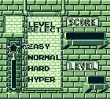 Pac-Attack Game Boy Select difficulty level