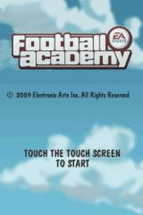 Football Academy Nintendo DS Title screen