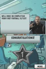 Football Academy Nintendo DS IQ Test completed