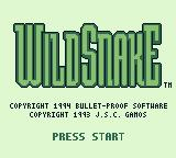 WildSnake Game Boy Title screen (US version)
