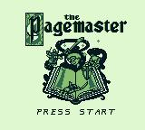The Pagemaster Game Boy Title screen