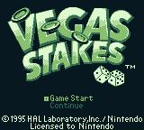 Vegas Stakes Game Boy Title screen