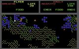 Mail Order Monsters Commodore 64 A battle against the Hordlings (brown dots)