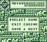 Vegas Stakes Game Boy Select a game, exit the casino or save & quit.