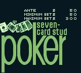 Vegas Stakes Game Boy Next up: Poker. Seven-card stud, to be precise.