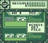 Vegas Stakes Game Boy Do I want to check, bet or fold.