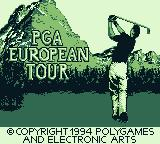 PGA European Tour Game Boy Title screen