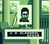 PGA European Tour Game Boy I choose to play as J. M. Olazabal from Spain.