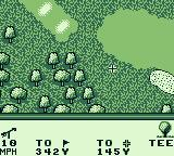 PGA European Tour Game Boy Teeing off at hole 1