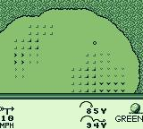 PGA European Tour Game Boy The ball is on the green.