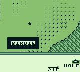 PGA European Tour Game Boy I am one under par. I got a birdie.