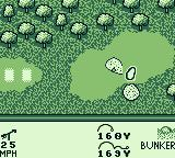 PGA European Tour Game Boy I landed in the bunker, a.k.a. sand trap.