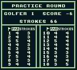 PGA European Tour Game Boy My final scorecard.
