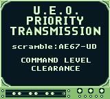 SeaQuest DSV Game Boy U. E. O. Priority Transmission