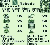 Nobunaga's Ambition Game Boy What are your commands?