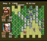Nobunaga's Ambition SNES The enemy forces approach.