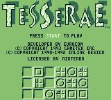 Tesserae Game Boy Title screen