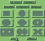Tesserae Game Boy Choose your level and grid.