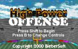 High Power Offense Windows Title screen