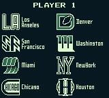 NES Play Action Football Game Boy Choose your team.