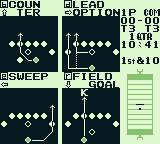 NES Play Action Football Game Boy Select your offensive play.