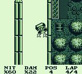 Race Days Game Boy Dirty Racing: I hit an electrified wall. It super-charges me.