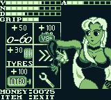 Race Days Game Boy Dirty Racing: I came in third on my retry so I can by an upgrade.