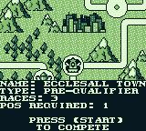 Race Days Game Boy Dirty Racing: I can go on to Ecclesall Town...