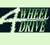 Race Days Game Boy 4 Wheel Drive: Title screem
