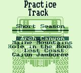 Race Days Game Boy 4 Wheel Drive: Which practice track will I do?