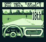 Race Days Game Boy 4 Wheel Drive: I have moved up to 18th place.
