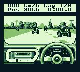 Race Days Game Boy 4 Wheel Drive: Set to right-handed driving and k/ph.