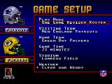 NFL 98 Genesis Game setup menu