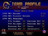 NFL 98 Genesis The team profile of the St. Louis Rams.